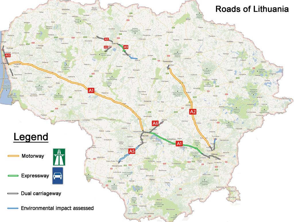 LT Lithuania road infrastructure Lietuvos keliai SkyscraperCity